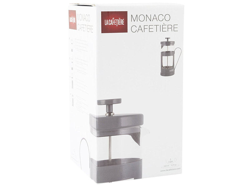 La Cafetiere Monaco 3-Cup Cafetiere Coffee Maker, Cool Grey