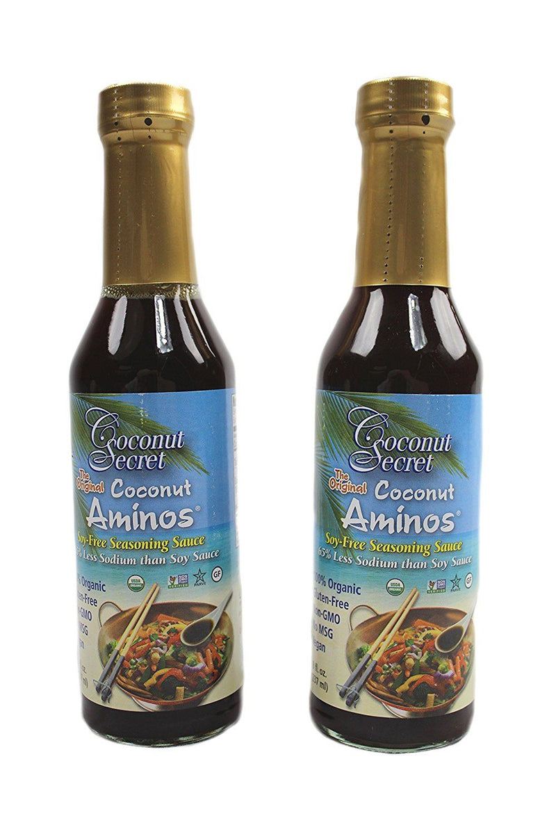 Coconut Secret Raw Coconut Aminos Soy-Free Seasoning Sauce 237 ml double pack