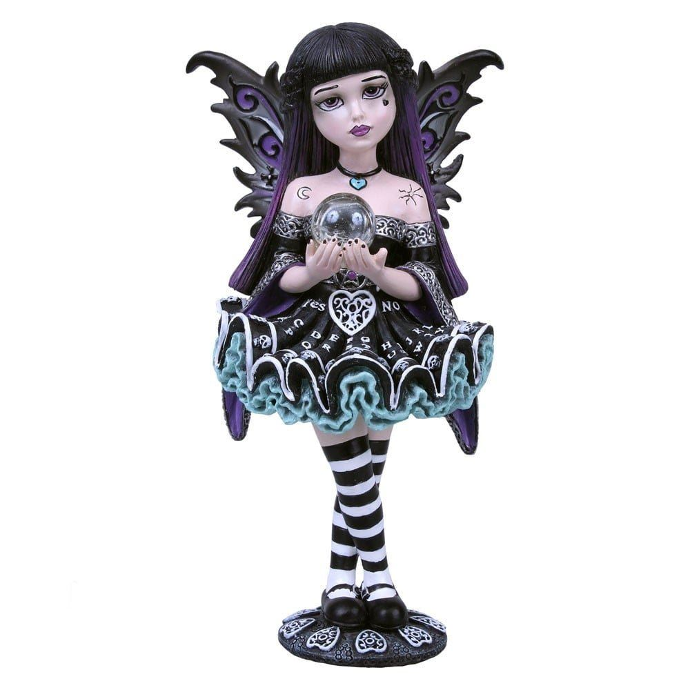 Mystique Little Shadows Hand Painted Resin Goth Girl Figurine By Nemesis Now