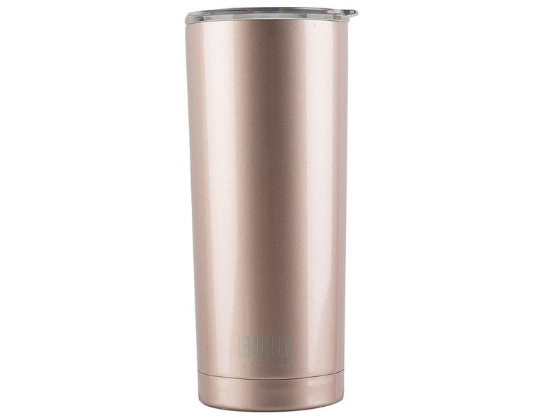 Built NY double Wall Stainless Steel Vacuum Insulated Tumbler, 20 oz, Rose Gold