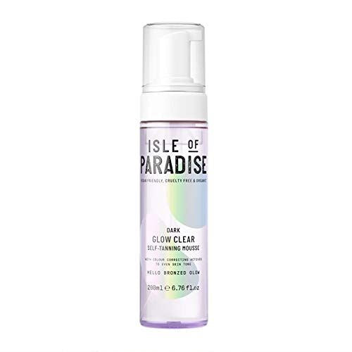 Isle of Paradise Glow Clear Self-Tanning Mousse 200ml (Dark)