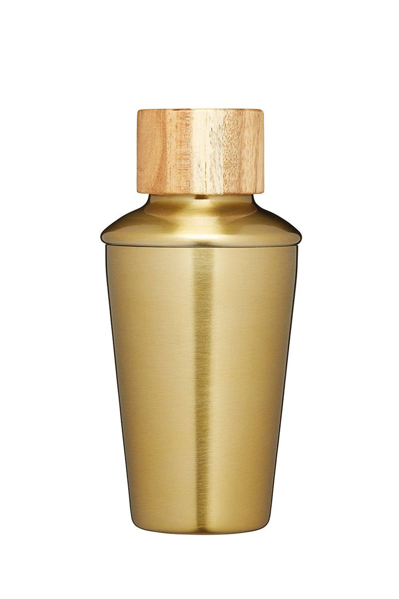 Bar Craft Mini Metal Cocktail Shaker, 250 ml (9 fl oz) - Brass Finish