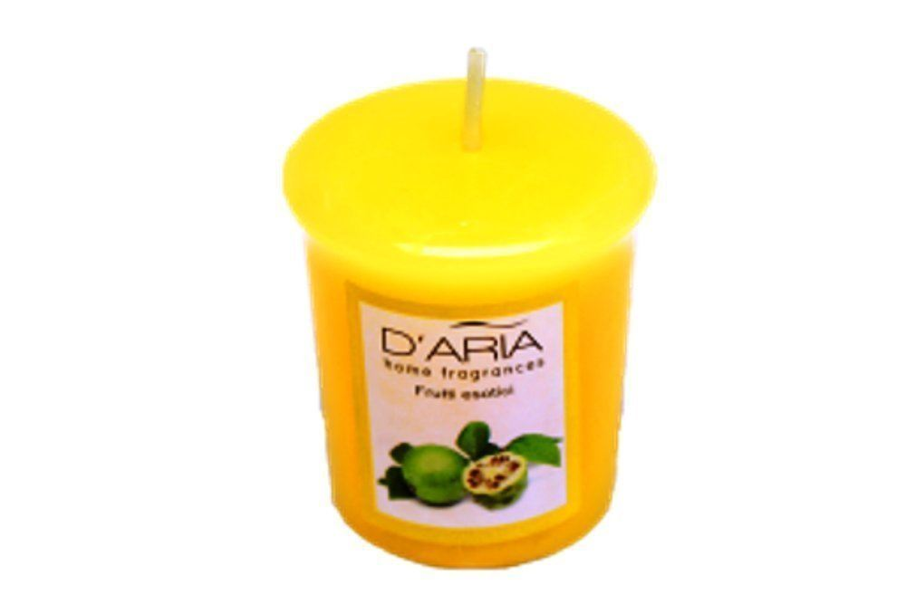 D'Aria Exotic Fruit Voitive Candles Pack of 3