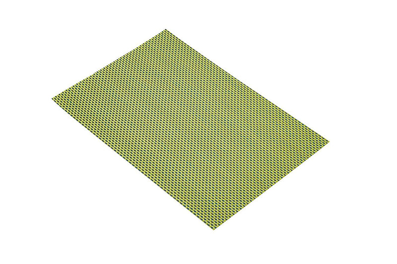 Kitchen Craft Woven Vinyl Placemat, 30 x 45 cm (12' x 17.5') - Green Weave