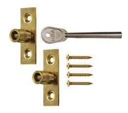 Era 822 Sash Window Stop Brass
