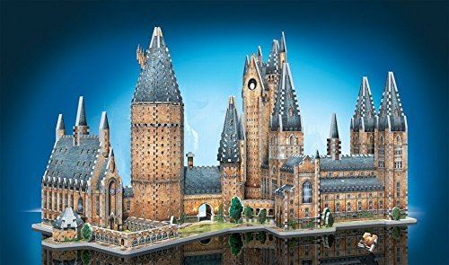 Wrebbit 3D - Harry Potter Hogwarts Castle 3D Jigsaw Puzzle Great Hall and Astronomy Tower - Bundle of 2 - Total of 1725 Pieces