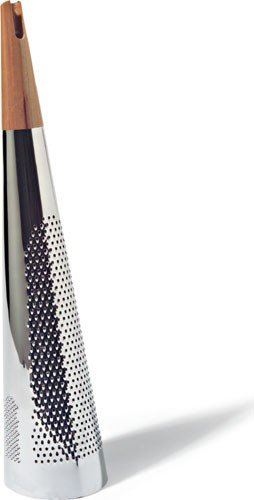 "Alessi ""Todo"" Giant Cheese And Nutmeg Grater in Steel And Wood, Silver"