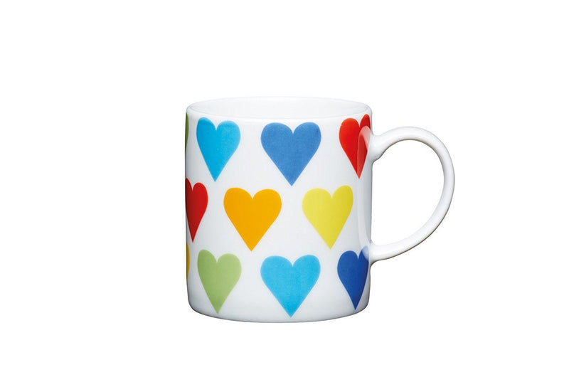 Kitchencraft Cup Coffee Hearts, Ceramics, Multicolor, 5 cm, Pack of 6