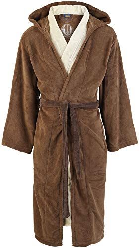Jedi (Star Wars) Bath Robe - One Size, Brown-beige,