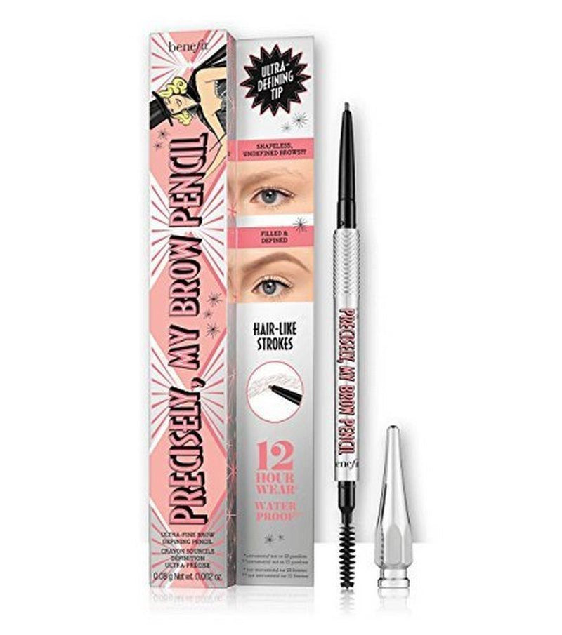 BENEFIT precisely, my brow eyebrow pencil 0.08 g Net wt. 0.002 oz. ultra-fine brow defining pencil Shade 3.5 - medium Neutral medium brown