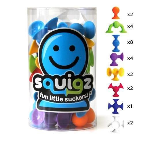 "Fat Brain Toys Folkmanis 50017 ""Squigz"" Toy (Pack of 24)"