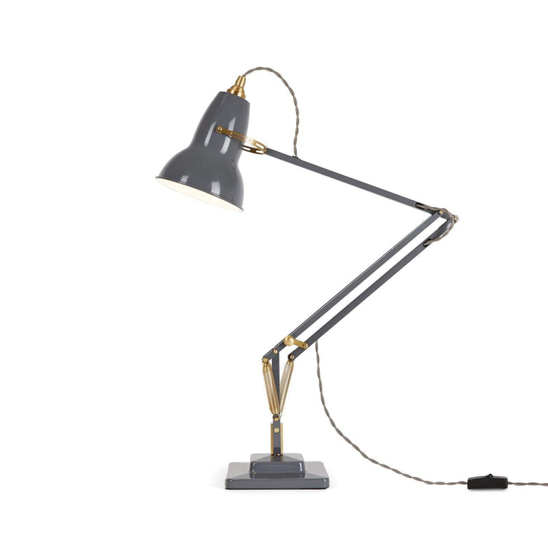 Anglepoise Original 1227 Brass Desk Lamp - Elephant Grey