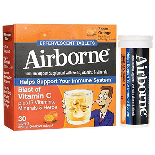 AirBorne, Blast of Vitamin C, Zesty Orange, 10 Effervescent Tablets