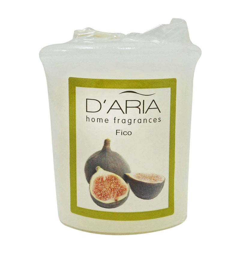 D'Aria Fig Scented Votive Candle Pack Of 3