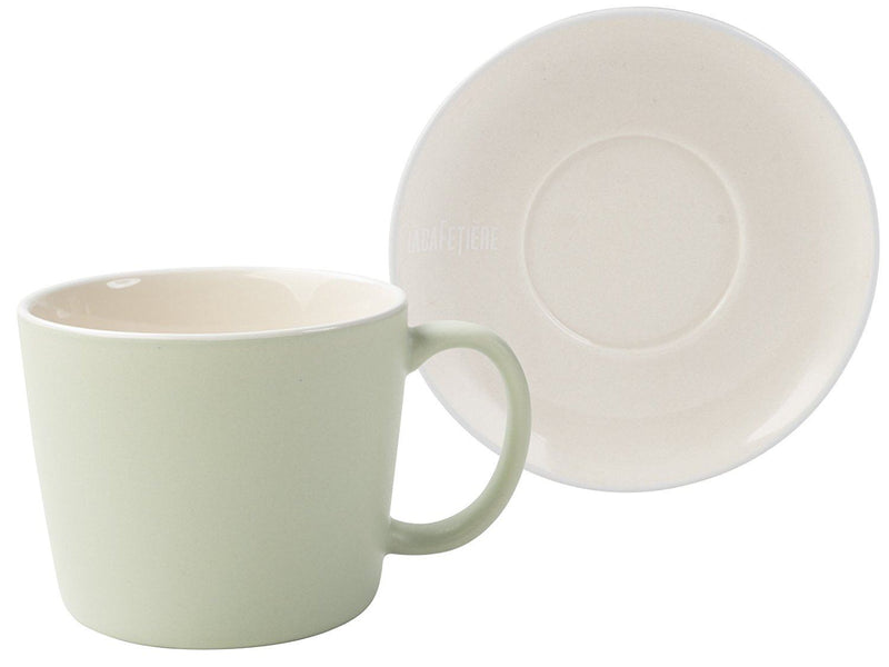 La Cafetiere Pistachio Cup And Saucer, Green, 2-Piece