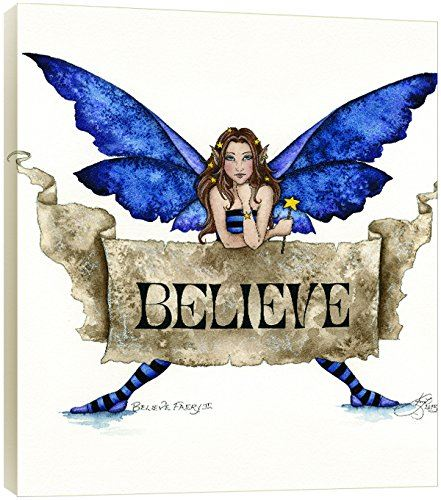 "Tree-Free Greetings 83540 11.25 x 11.25-Inch ""Believe Fairy 2"" by Amy Brown EcoArt Wall Plaque"