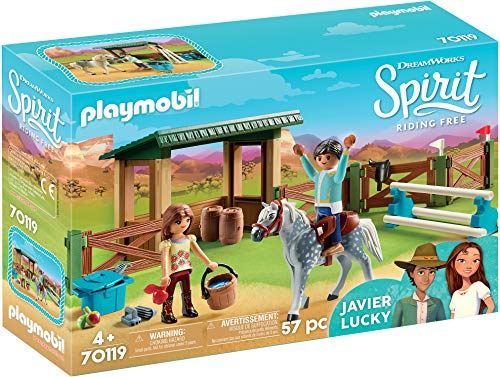 DreamWorks Spirit 70119 Riding Arena with Lucky and Javier by PLAYMOBIL