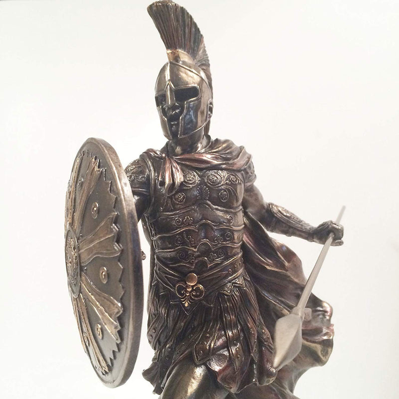 Achilles Unleashed With Spear & Shield Statue Sculpture Figurine Troy