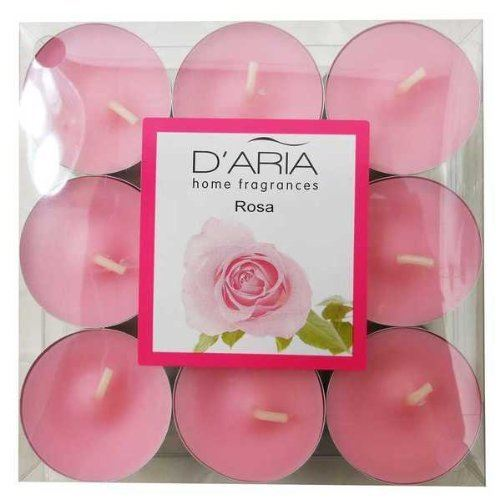 D'Aria Home Rose Scented 9 Tealights