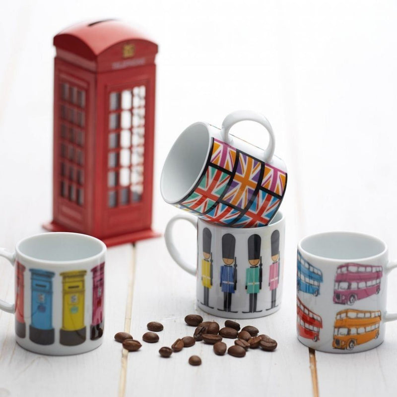 Kitchen Craft - Porcelain Espresso Mug - London Bus - 80ml