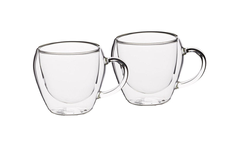 KitchenCraft Le'Xpress Insulated Double-Walled Tea Cups, 230 ml (Set of 2)