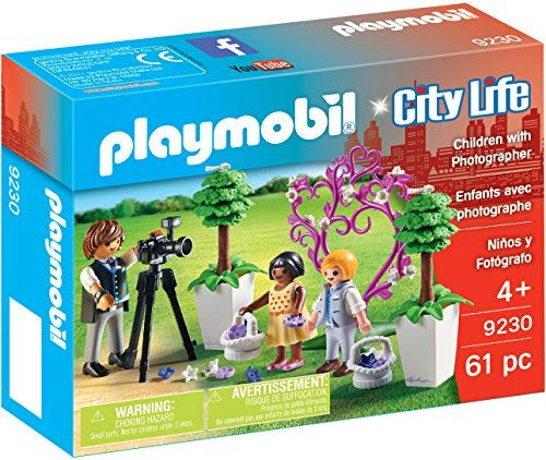 Playmobil 9230 City Life Flower Children and Photographer - Multi-colour