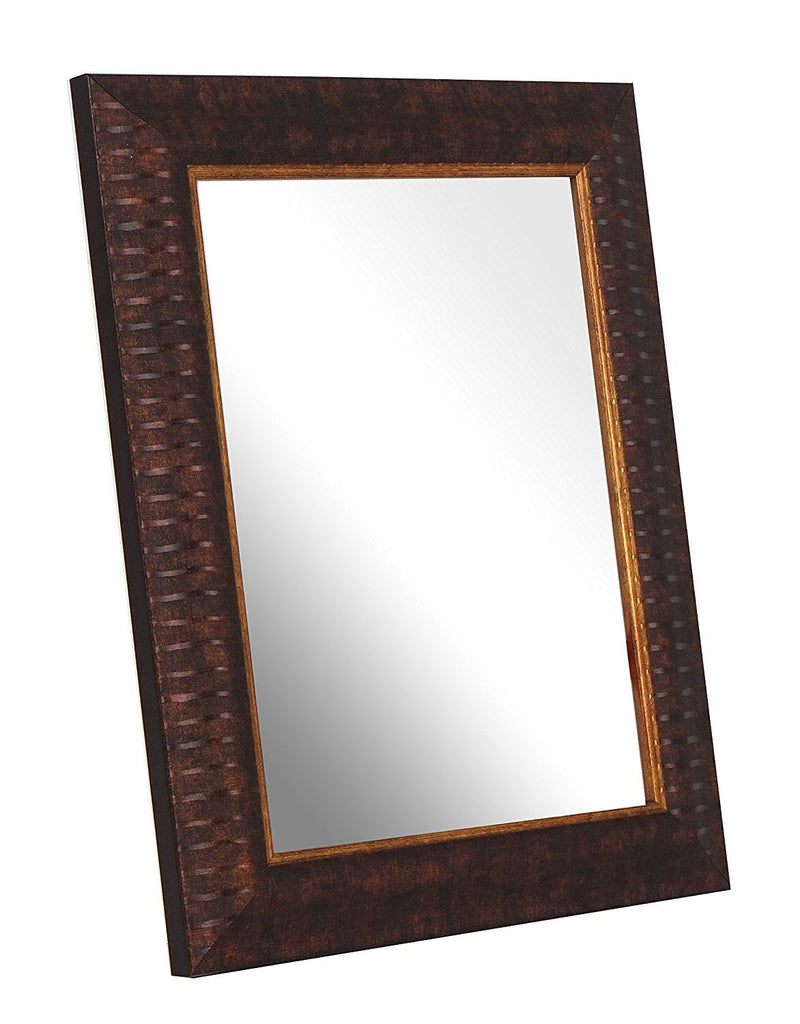Inov8 8 x 6-Inch British Made Traditional Mirror, Ripple Brown