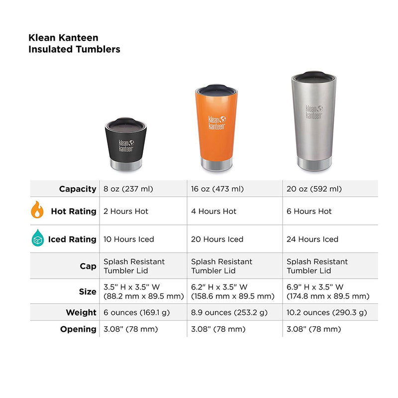 Klean Kanteen 473ml - Brushed Stainless Cup (US Pint)