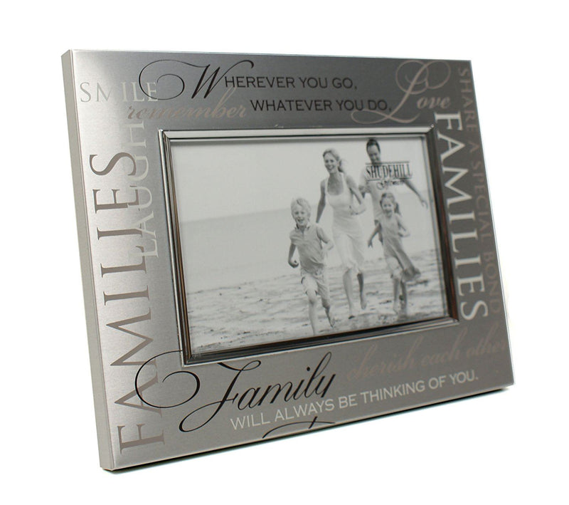 Shudehill Family Photograph Frame - Brushed Steel