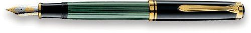 Pelikan M400 Fountain Pen - Fine Nib - Black & Green