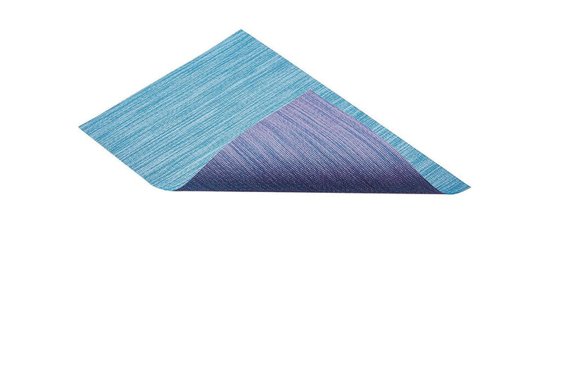 Kitchen Craft Double-Sided Woven Vinyl Placemat, 30 x 45 cm - Blue / Purple