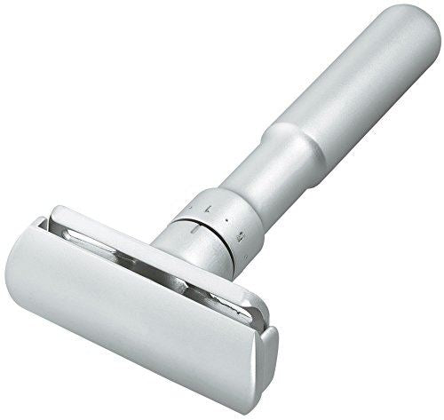 Merkur Futur Adjustable Safety Razor in Matt Chrome - No Blades Included