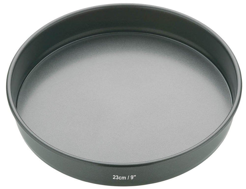 KitchenCraft MasterClass Non-Stick Round Sandwich Tin with Loose Base, Black, 23 cm