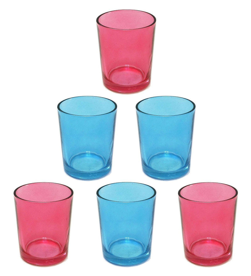 Colony set of 3 Red and 3 Blue TeaLight Holders