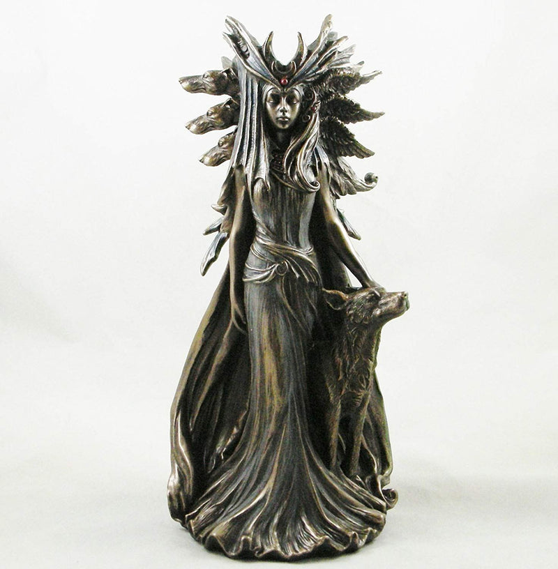 Greek Goddess 'Hekate' Goddess of Magic Figurine Bronze Hecate Statue Ornament