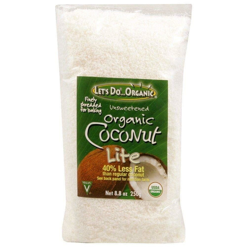 Organic Shredded Coconut, Lite 250 gm