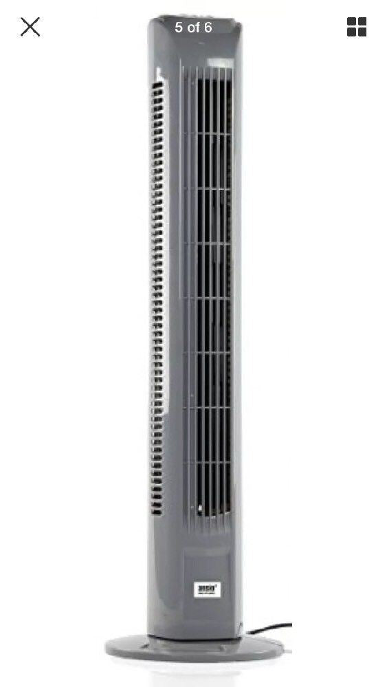 "ANSIO 30"" Light Weight Oscillating Slim Cooling Tower Fan With Remote Control"