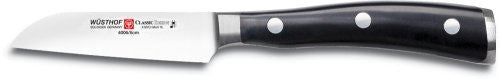 Wusthof Classic Ikon 3-Inch Straight Paring Knife, Black
