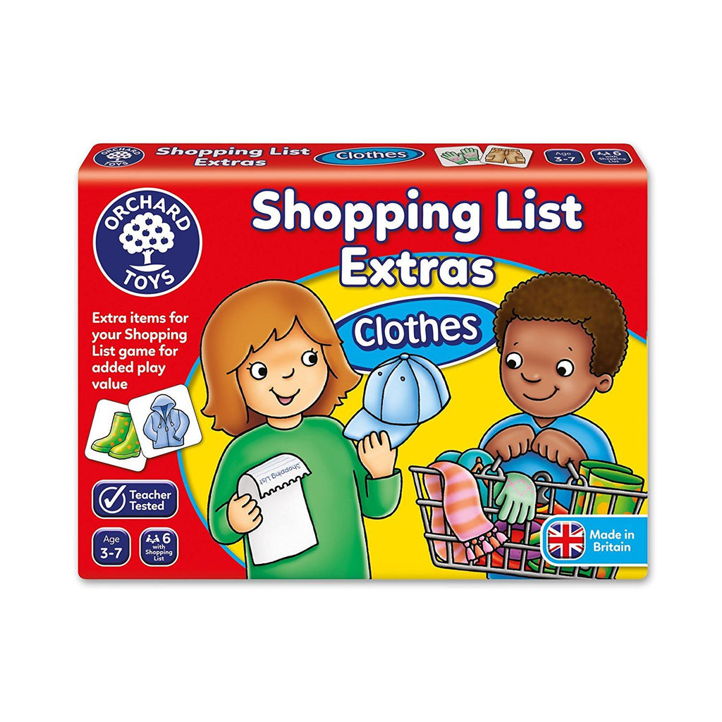 Orchard Toys - Shopping List Extension Pack - Clothes