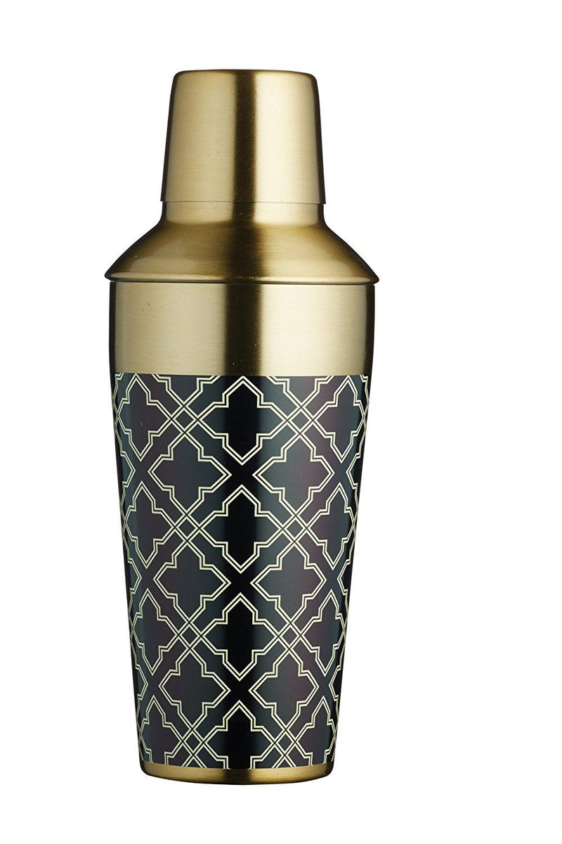 Bar Craft Metal Cocktail Shaker, 650 ml (22 fl oz) - Brass Finish