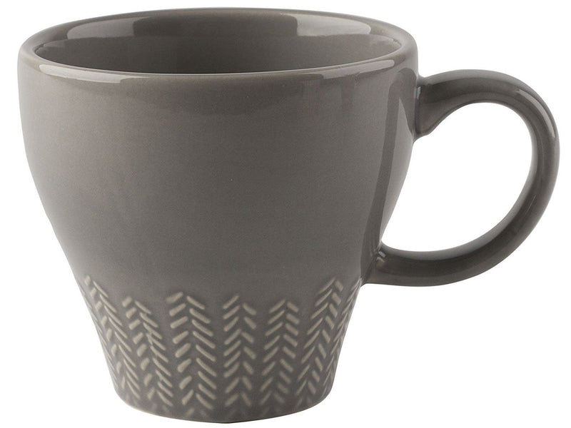 La Cafetiere Textured Geo Grey Mug