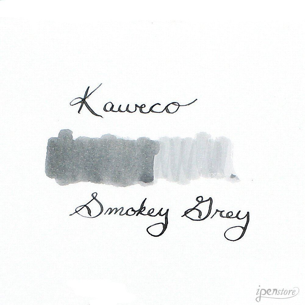 Kaweco Fountain Pen Ink Cartridges short, Smokey Grey (Grey), Pack of 6