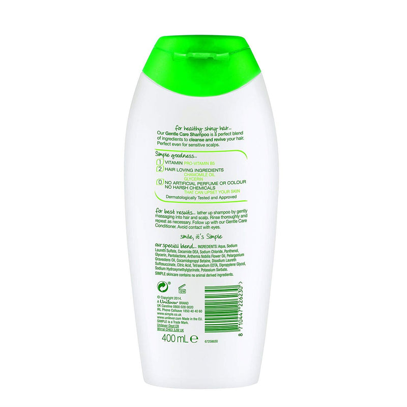 Simple Kind to Hair Gentle Care Shampoo, 200 ml