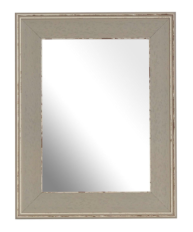 Inov8 7 x 5-Inch British Made Traditional Mirror Frame, Austen Distressed Silver