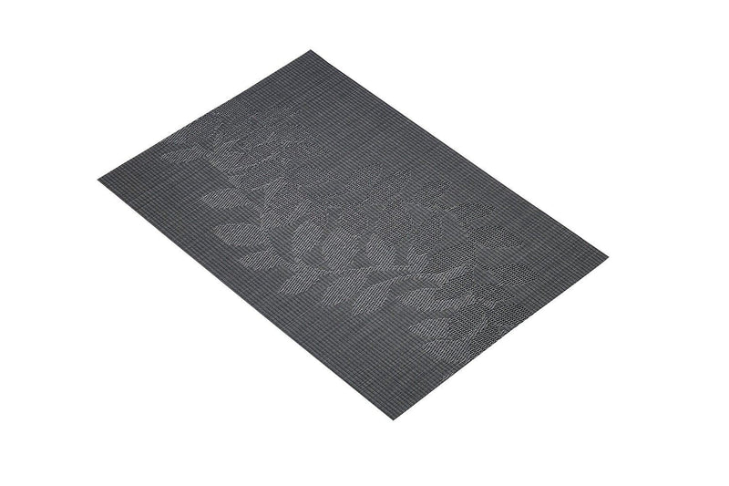 Kitchen Craft Woven Vinyl Placemat, 30 x 45 cm (12' x 17.5') - Black Leaf