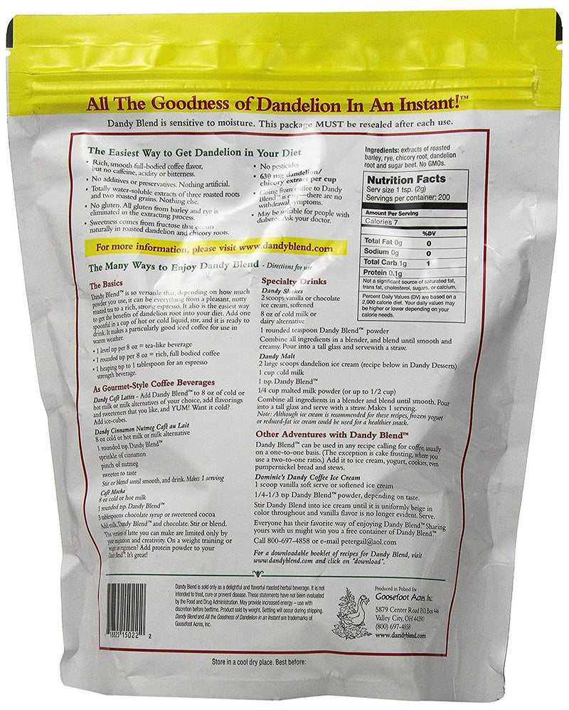 Dandy Blend Instant Herbal Beverage with Dandelion 400 g