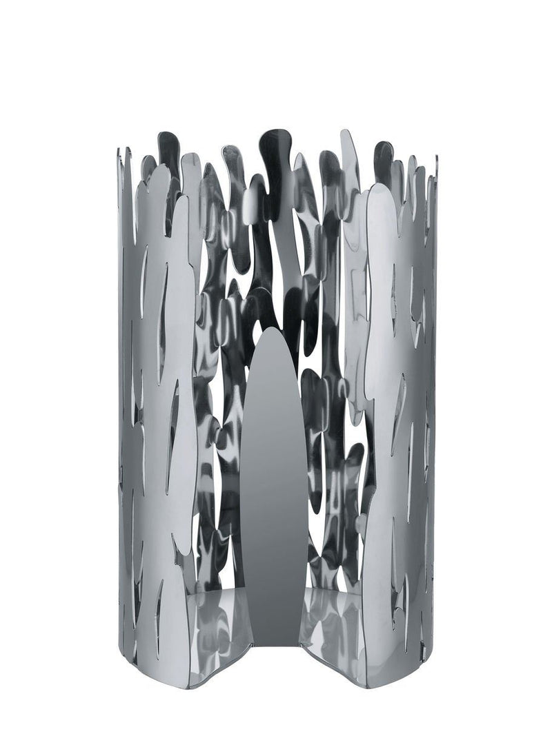 Alessi BM04 Bark Kitchen Roll Holder 18/10 Stainless Steel Mirror Polished Silver 15.5 x 15.5 x 24 cm
