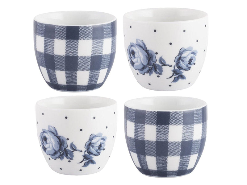 Katie Alice 'Vintage Indigo' Egg Cups, Blue, 4-Piece