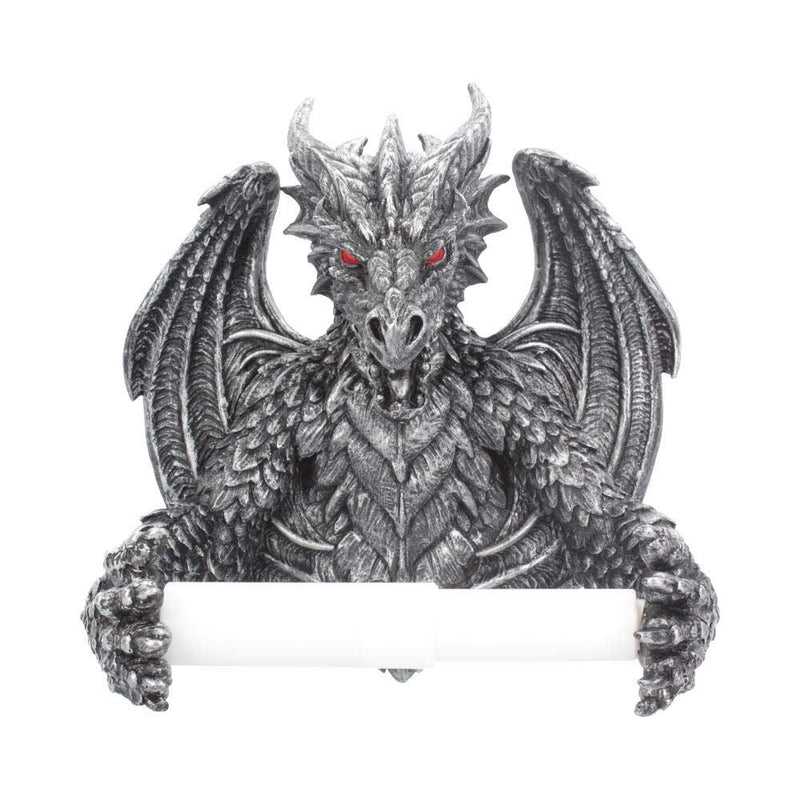 Nemesis Now Obsidian Gothic Dragon Toilet Roll Holder