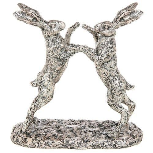 Shudehill Studio Collection Champagne Bronze Boxing Hare Statue